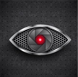 Icon red metall eye black grille Royalty Free Stock Images