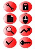 icon red set web Стоковые Изображения