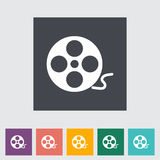 Icon reel of film. Movie Concept Royalty Free Stock Image