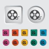 Icon reel of film. Movie Concept Stock Photos