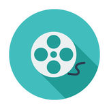 Icon reel of film. Single flat color icon. Vector illustration Stock Images