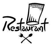 Icon restaurant. Creative design of icon restaurant Stock Photos