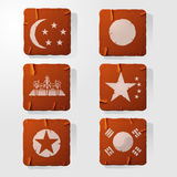 Icon retro Asia. This is file of EPS10 format Royalty Free Stock Image