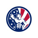 American Fitness Gym USA Flag Icon Royalty Free Stock Photography