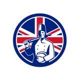 British Baker Union Jack Flag Icon Royalty Free Stock Image