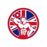 British Fitness Gym Union Jack Flag Icon Stock Photos