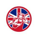 British Lit Operator Union Jack Flag Icon Royalty Free Stock Photos