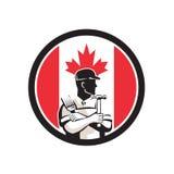 Canadian DIY Expert Canada Flag Icon Stock Photo