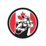 Canadian Welder Canada Flag Icon Royalty Free Stock Image