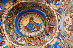 Icon in Rila Monastery royalty free stock image