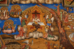 Icon in Rila Monastery stock image