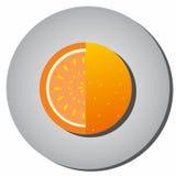 Icon of ripe juicy fruit, oranges, grapefruit, sectional-style f Stock Photo
