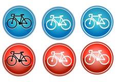 Icon road bike Stock Photos