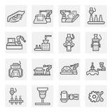 Icon. Robot icon sets on white background royalty free illustration