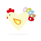 The icon of the rooster. Royalty Free Stock Photo