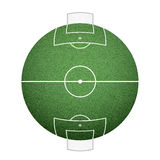 Icon round soccer field on the sphere. lawn texture. Royalty Free Stock Photo