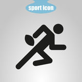 Icon of rugby player on a gray background. Vector illustration Stock Image