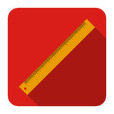 Icon of ruler in flat design. Vector icon of ruler in flat design Stock Photos