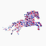 Icon of running horse. Running horse vector illustration. Running horse from triangles Stock Image