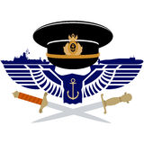 The icon of the Russian Navy Royalty Free Stock Images
