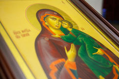 Icon in russian orthodox church Royalty Free Stock Photos
