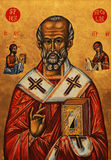 Icon of Saint Nicolas Stock Photos