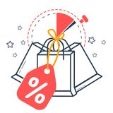 Icon sale  with  packages Stock Photos