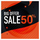 Icon Sale and special offer. 50% off. Vector illustration. Royalty Free Stock Images