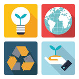 4 icon of save the world symbol. Royalty Free Stock Photo