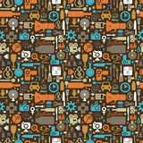 Icon seamless pattern Royalty Free Stock Photo