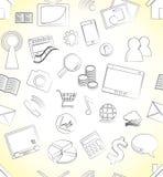 Icon seamless pattern. Illustration of icon seamless pattern set stock illustration