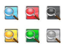 Icon search. Colorful icon search for web Stock Photos