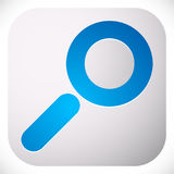 Icon for search, details, zoom, research concepts with magnifier Royalty Free Stock Images