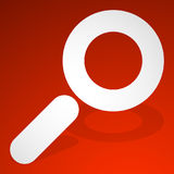 Icon for search, details, zoom, research concepts with magnifier Royalty Free Stock Photography