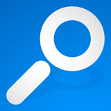 Icon for search, details, zoom, research concepts with magnifier Royalty Free Stock Image
