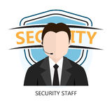 Icon of Security Staff Stock Photo
