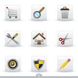Icon series 1 - web universal Stock Photography