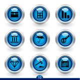 Icon series 10 - finance Royalty Free Stock Images