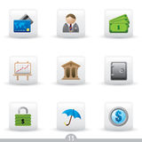 Icon series 11 - education. Set of nine finance icons from a series Stock Photo