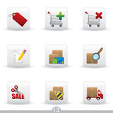 Icon series 13 - internet shopping Royalty Free Stock Images