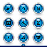 Icon series 14 - medical. Icon set from a series in my portfolio Royalty Free Stock Photography