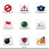 Icon series 8 - security Royalty Free Stock Photography