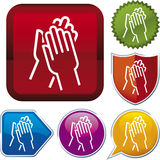 Icon series: applause Royalty Free Stock Photography