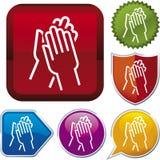 Icon series: applause. Vector icon illustration of applause over diverse buttons vector illustration