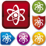 Icon series: atom Stock Images