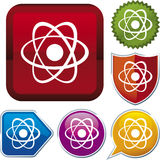 Icon series: atom (vector) Stock Photos
