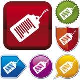 Icon series: bar code Royalty Free Stock Photos
