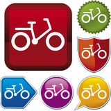 Icon series: bicycle (vector) Royalty Free Stock Photo