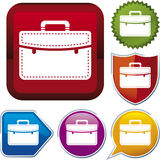 Icon series: briefcase Stock Image