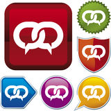 Icon series: bubble talk Stock Image